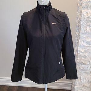 Reebok black lightweight spring jacket like new
